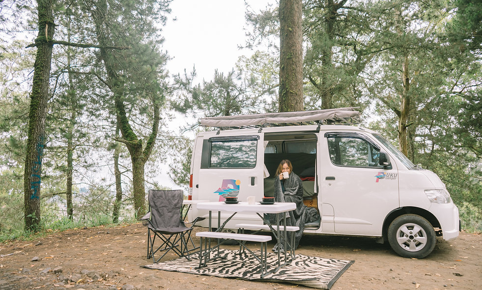 A whole week with full of love to explore bali with campervan