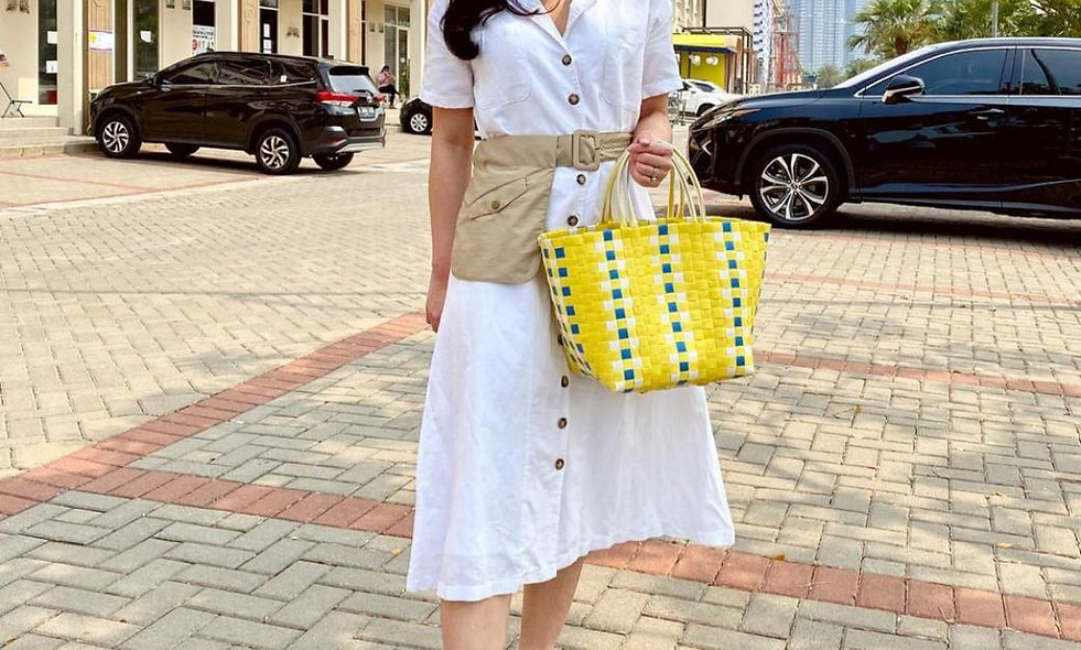 Disinfectant-ready Designer Woven Bag