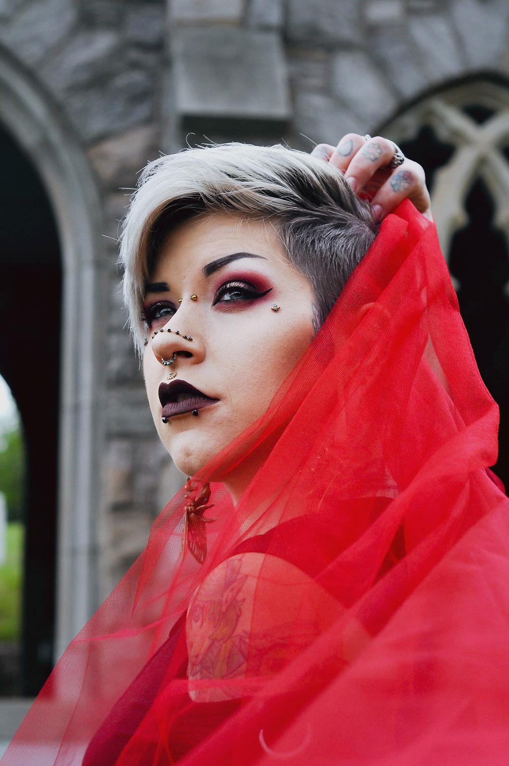 sibyl, dark, fashion, beauty photography, makeup,