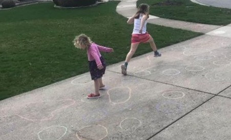 Sidewalk Chalk Shenanigans