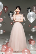 Sothida Aurora Dress ชุดแต่งงานสีชมพู