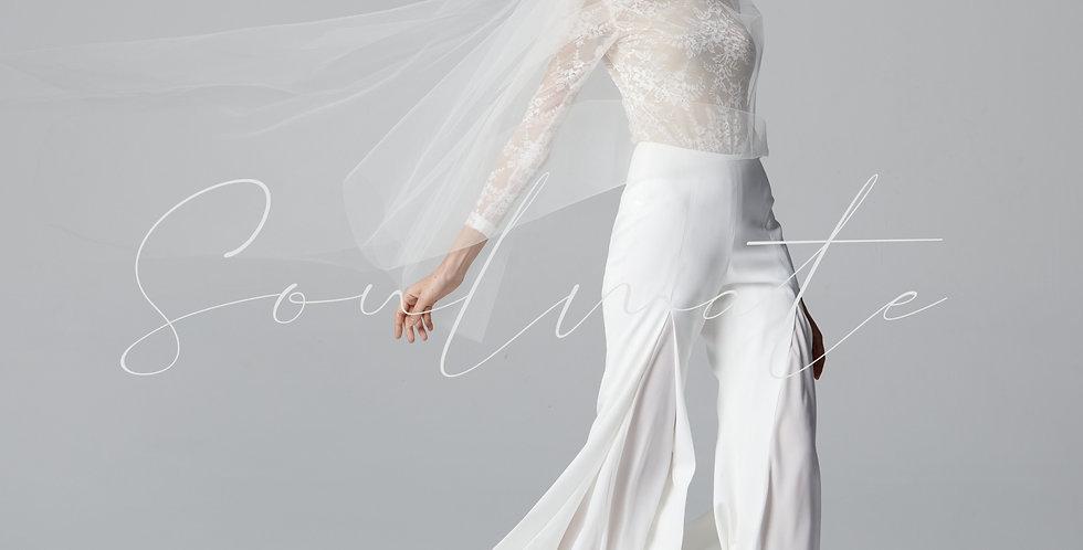 Fleur Bridal Bodysuite Pants Set