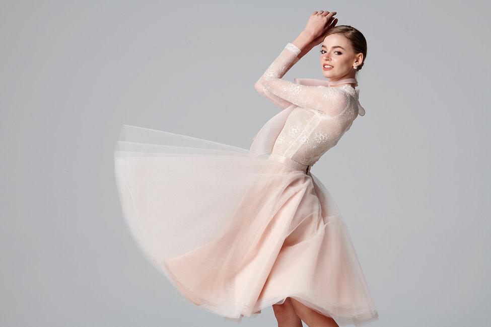look4 Fleur Pink Body Suite + Full Skirt