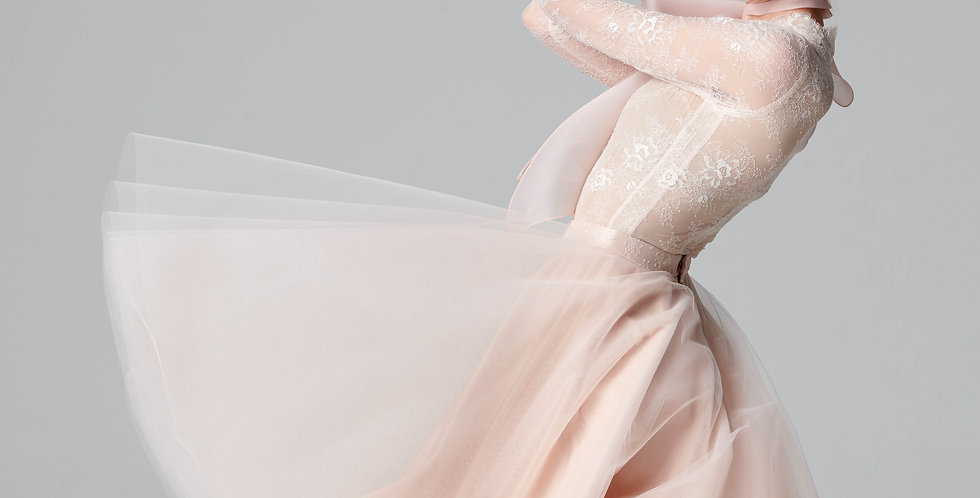 Fleur Pink Body Suite / Full Skirt