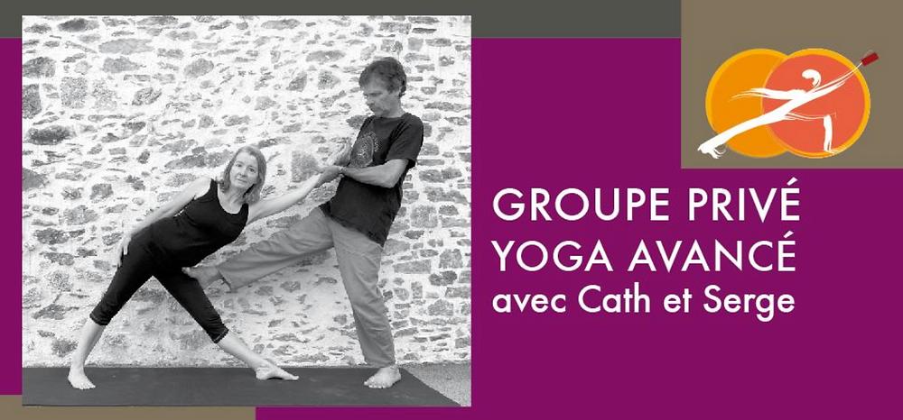 Bannière groupe Facebook Yoga avancé avec Cath et Serge