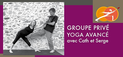 Groupe privé Facebook Yoga avancé avec Cath et Serge