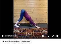 Photo d'une de nos vidéos de yoga du 2ème confinement