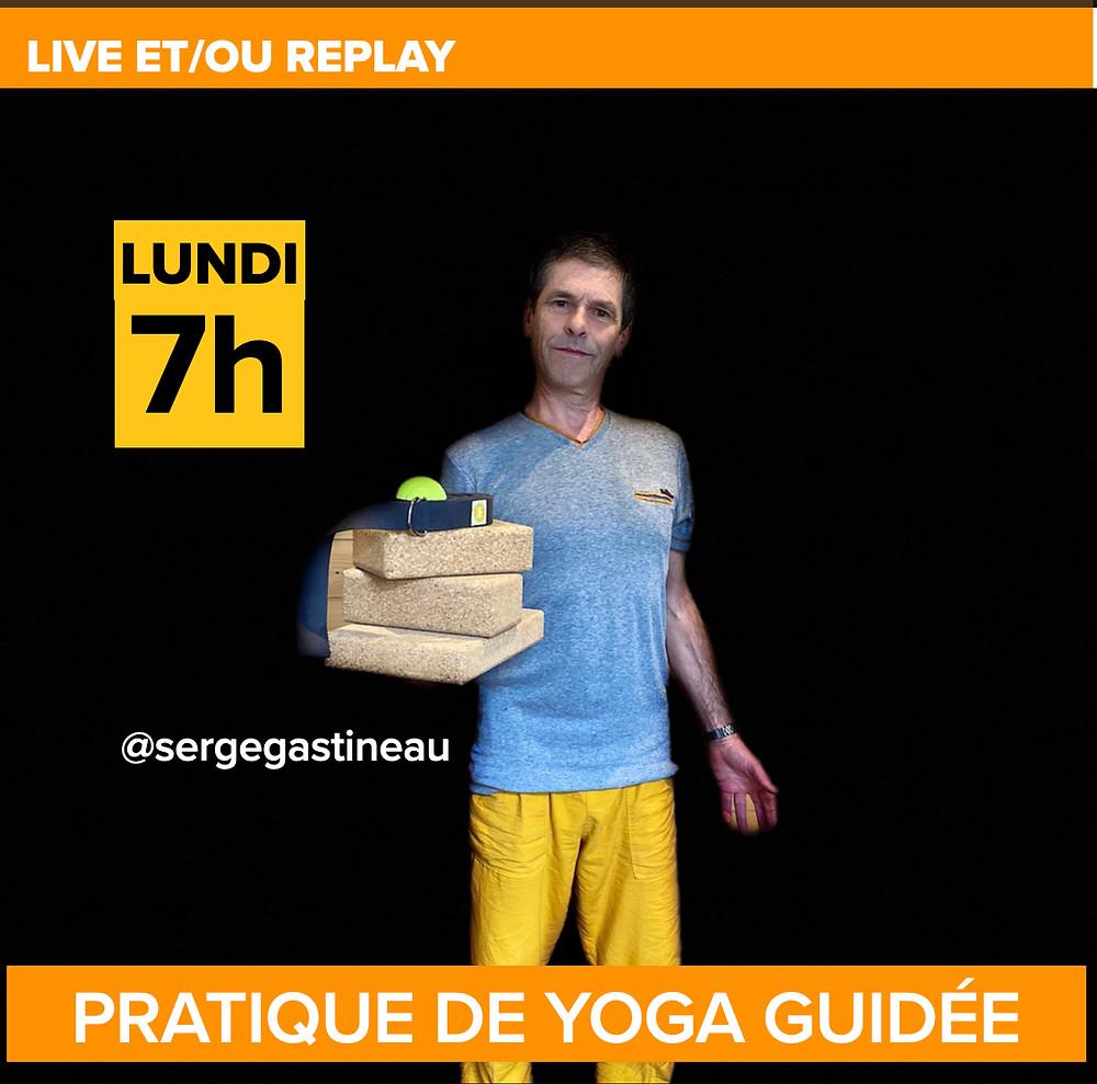 Pratique de Yoga guidées par Serge. Cours de yoga en ligne.