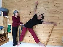 Démonstration de Yoga avec Cath Bellières et Serge Gastineau
