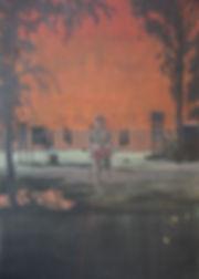 Hunter, 2020, oil on canvas, 250 x 170cm