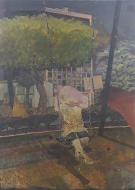 Honeymoon Swing, 2019, oil on canvas 250