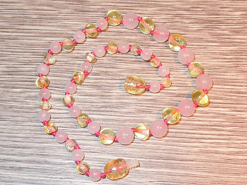 #1540 - Lemon with Rose Quartz