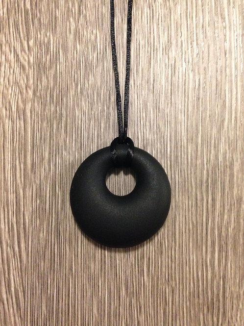 #1530 - Black Silicone Mum's Pendant