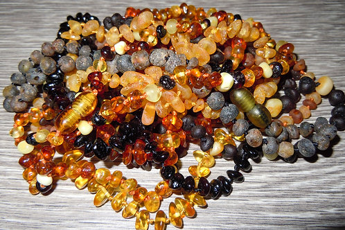 Raw & Polished Baltic Amber Baby Necklace Bulk Order