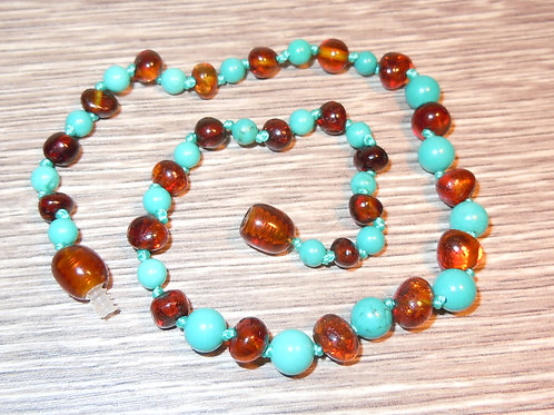 #1541 - Cognac with Turquoise