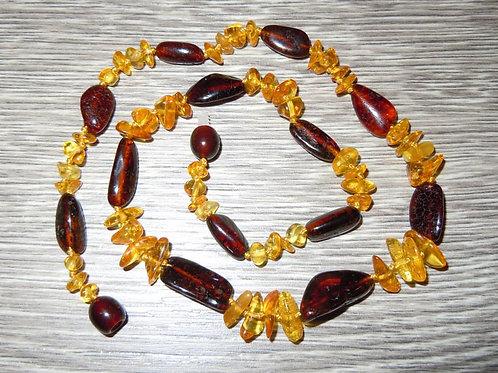 #1373 - Ruby Lemon Mixed Bead