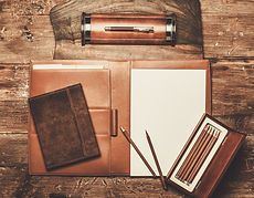 office supplies calendars pens notebooks desk journal stationary padfolio