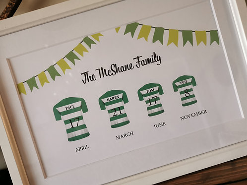 Family Football Frame