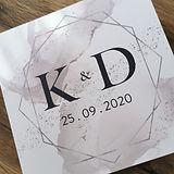 Folded wedding invitation designed by Karen McShane Wedding Stationery and Design