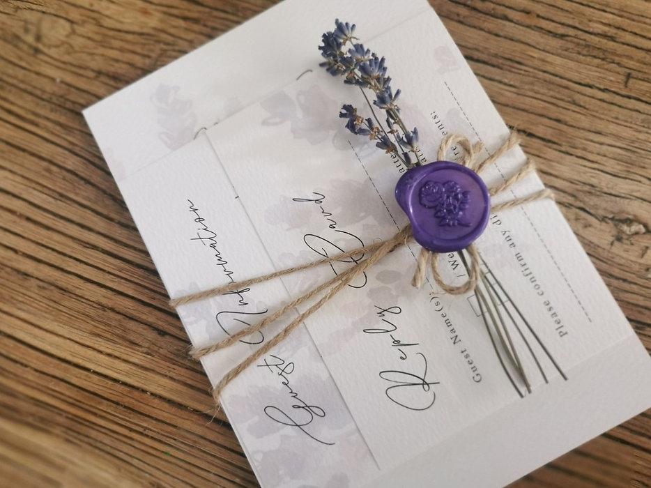 Lavender Wedding Invitation by Karen McShane Wedding Stationery and Design Ballykelly Northern Ireland