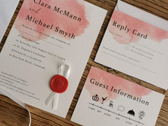 Red Watercolour Invitation