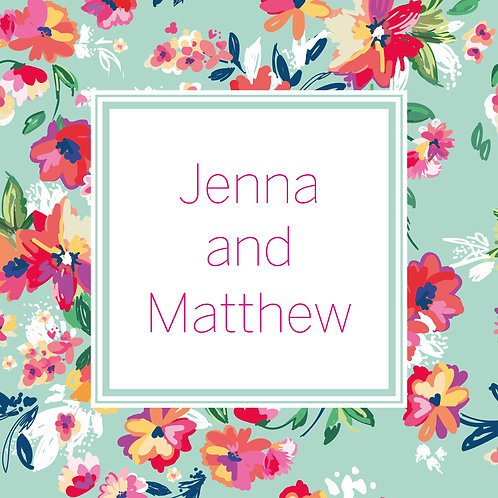Jenna One Fold Card