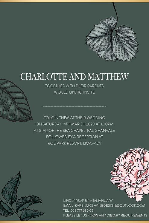 Charlotte Flat Card