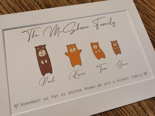 Family Bear Frame