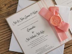 Coral wax Invitation