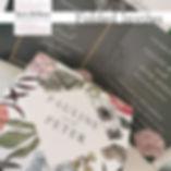Folded wedding invitations.  A popular c