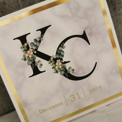 Intial Wedding Invitation in foil