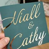 Foil Print Wedding Stationery design by Karen McShane Wedding Stationery and Design
