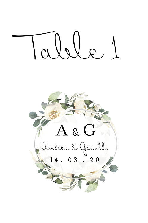 Table Names / Numbers