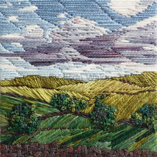 'After the Rain' Embroidery