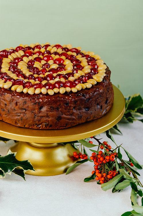 "Large Christmas Cake (10"") & Gift Box"