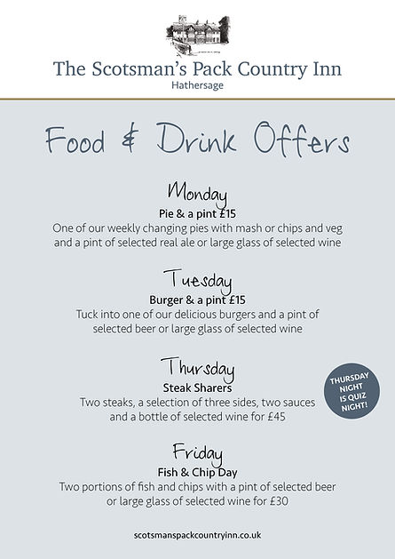 Scotsman's weekly food offers A4 poster