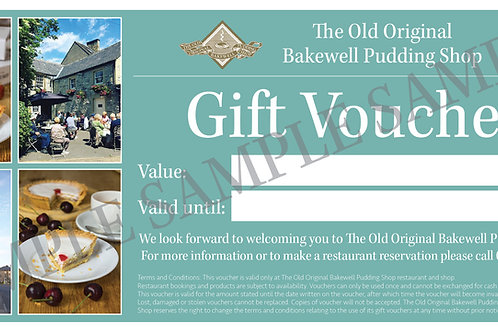 Pudding Shop Gift Voucher (from £10)