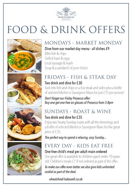 Wheatsheaf food offers poster SEPTEMBER