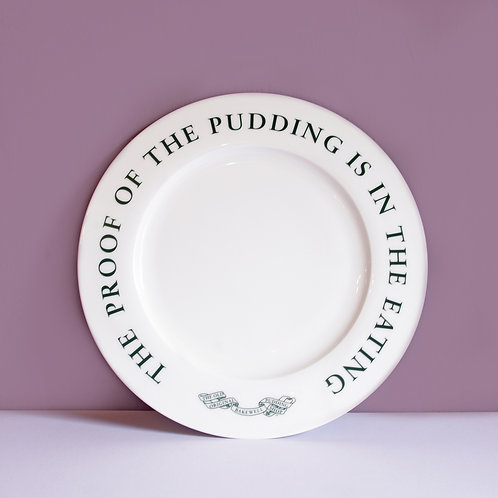 The Proof of the Pudding Plate