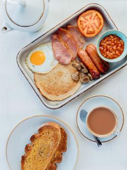 Derbyshire Oatcake Cooked Breakfast