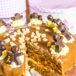 Toffee and ginger cake