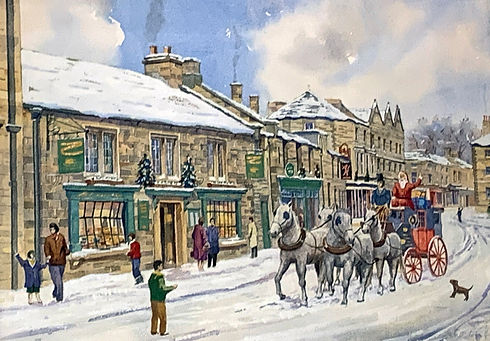 The Old Original Bakewell Pudding Shop at Christmas