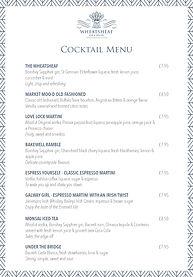 Wheatsheaf cocktail menu OCTOBER 2020.jp
