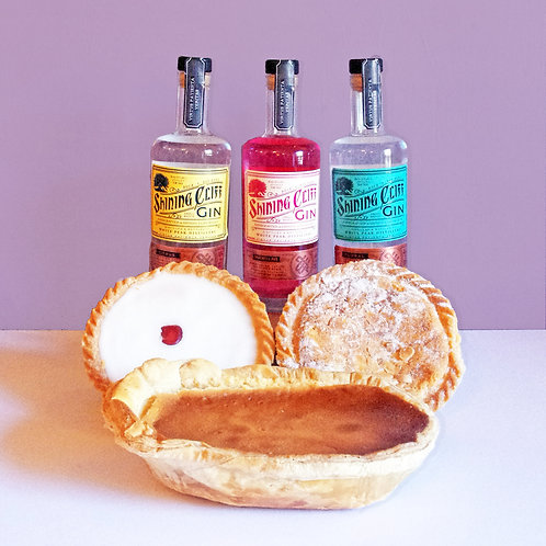 Shining Cliff Gin and a Bakewell Pudding or Tart