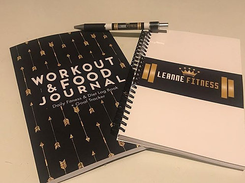 weight loss journal, note book and pen set