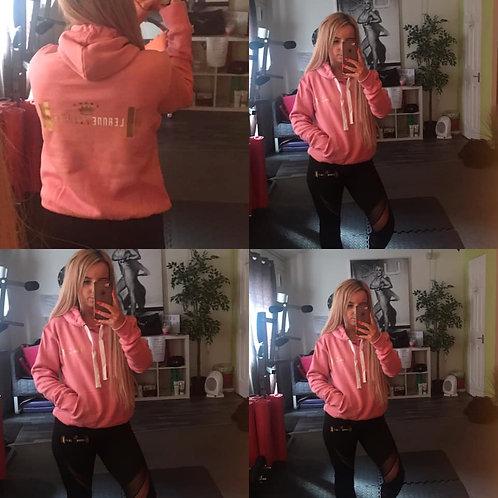 Pink leanne fitness hoodies