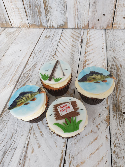 Fishing Themed Cupcakes