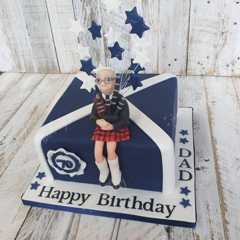 70th Scottish Themed Victoria Sponge Cake