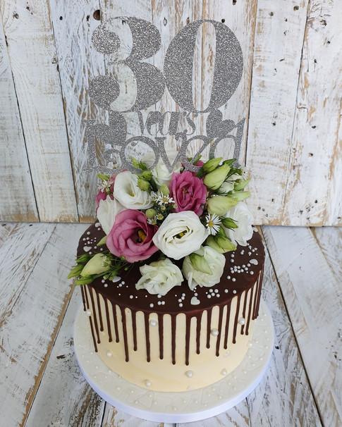 Pearl Anniversary Chocolate Cake