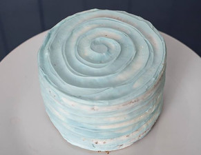 Vanilla Cake with Beautiful Light Blue Buttercream